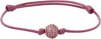 Shamballa Jewels Pave Pink Sapphire Orb Bracelet