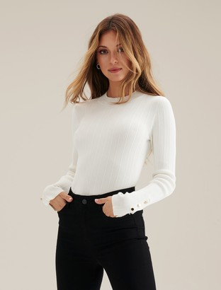 Forever New Polly Rib Layering Jumper - Porcelain - l