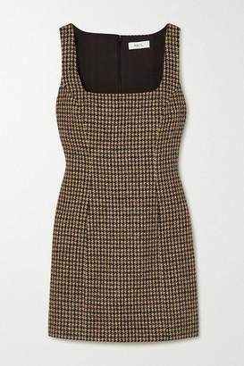 Racil Hailey Houndstooth Wool-tweed Mini Dress - Brown