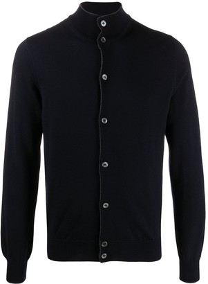 Barba High Neck Knit Cardigan