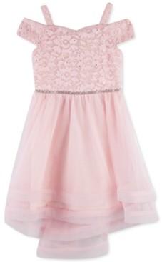 Speechless Little Girls Off-The-Shoulder Lace Dress