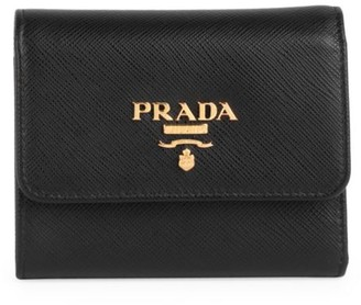 Prada Small Saffiano Leather Continental Wallet