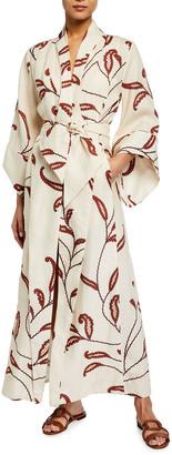 Johanna Ortiz Ecru Soul Quest Coverup Kimono