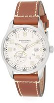 Victorinox Airboss Stainless Steel Leather Band Chronograph Watch