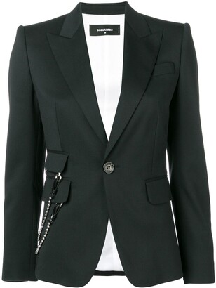 DSQUARED2 Side Chain Fitted Blazer
