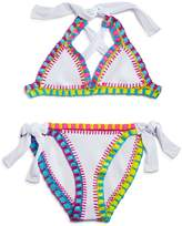 Pilyq Girls' Crochet 2-Piece Swimsuit
