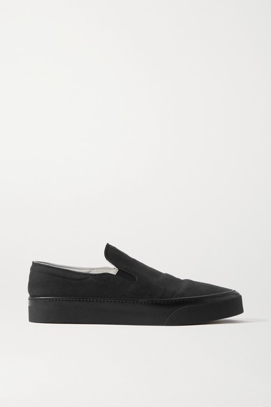 Thumbnail for your product : The Row Marie H Canvas Slip-on Sneakers - Black