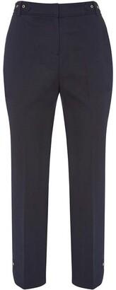 Mint Velvet Navy Eyelet Capri Trousers