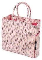 Keep Leaf Carry-All Canvas Tote/Beach Bag in Hearts Print