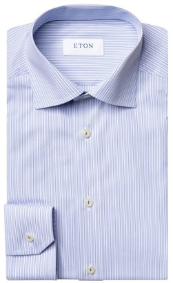 Eton Vertical Stripe Dress Shirt