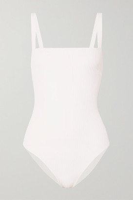 Faithfull The Brand Phoebe Ribbed Swimsuit - White