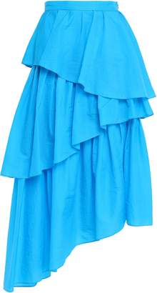 House of Holland Asymmetric Tiered Shell Midi Skirt
