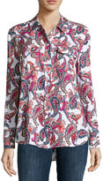 Liz Claiborne Long-Sleeve Front-Pocket Oxford Shirt