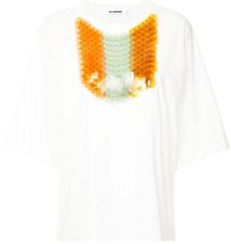 Jil Sander pailette sequin T-shirt