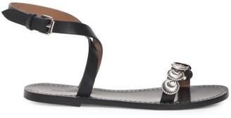 Isabel Marant Eldory Flat Embellished Leather Sandals