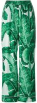 Dolce & Gabbana banana leaf print twill pyjama pants
