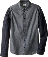 Armani Junior Two-Tone Cotton Button Down Boy's Clothing