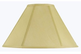 "Winston Porter 19"" Fabric Empire Lamp Shade Finish: Champagne"