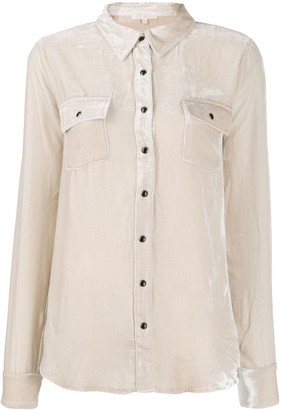 Gold Hawk Velveteen Utility Shirt