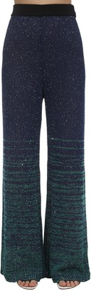 M Missoni Sequined Knit Flared Pants
