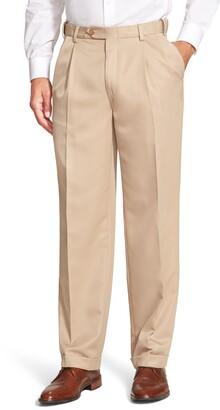 Berle Self Sizer Waist Pleated Classic Fit Dress Pants