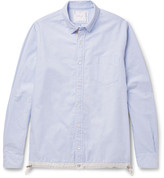 Sacai Button-Down Collar Shell-Trimmed Cotton Oxford Shirt