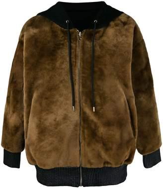 Liska hooded zipped jacket
