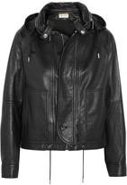 Saint Laurent Hooded Leather Jacket - Black
