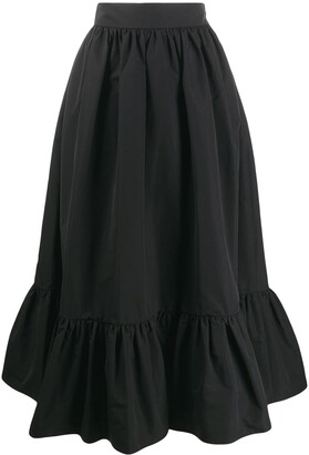 Valentino Micro-Faille Full Skirt