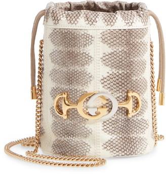 Gucci MiniGenuine Snakeskin Bucket Bag