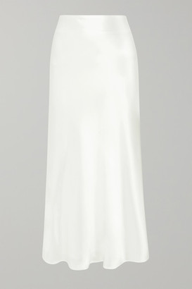 Galvan Valletta Satin Midi Skirt - White