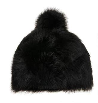 Bogner Sabia Pompom-Embellished Fur Hat Size: M