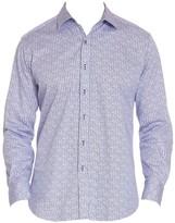 Robert Graham Kirk Checker Geo Print Shirt