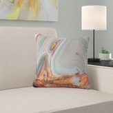 """Abstract Beautiful Lake Superior Agate Pillow East Urban Home Size: 16"""" x 16"""", Product Type: Throw Pillow"""