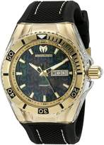 Technomarine Men's TM-115213 Cruise Monogram Analog Display Swiss Quartz Black Watch