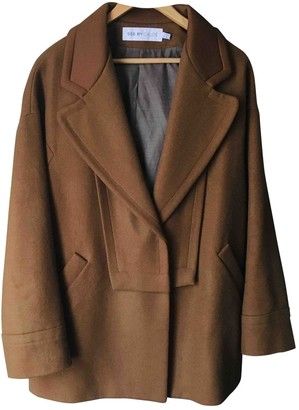 See by Chloe Brown Wool Coat for Women