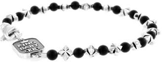 King Baby Studio Onyx & Silver Bead Bracelet