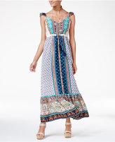 American Rag Juniors' Printed Ruffled Maxi Dress, Created for Macy's