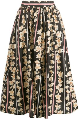 Forte Forte Floral Print Pleated Skirt