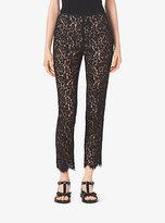 Michael Kors Floral Lace Cotton Pants