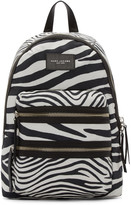 Marc Jacobs Black & Off-White Zebra Biker Backpack