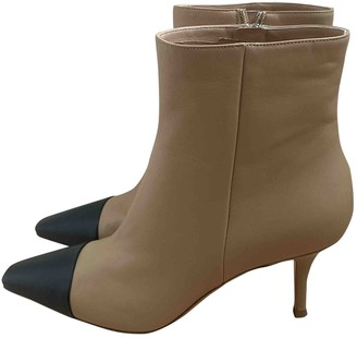 Gianvito Rossi Beige Leather Boots
