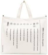 MM6 MAISON MARGIELA Totally Label Label large shopper tote