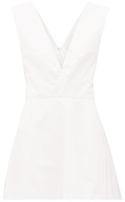 Kalita Lemuria Tie-back Cotton Playsuit - White