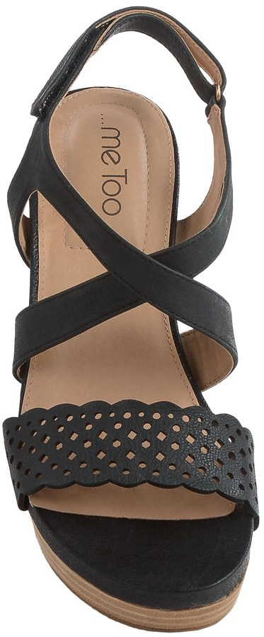 Me Too Alexa Platform Wedge Sandals - Leather (For Women)