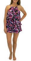 A SHORE FIT A Shore Fit Tarzana Hi Neck 2 Tier Romper