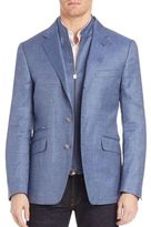 Corneliani Button-Front Wool-Blend Sportcoat