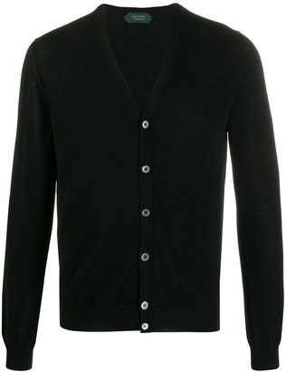 Zanone Knitted Long Sleeve Cardigan