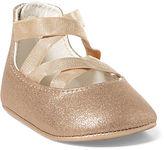 Ralph Lauren Girl Priscilla Metallic Ballet Flat