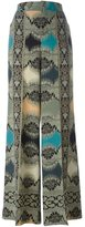 Etro abstract patterned palazzo pants - women - Silk - 42